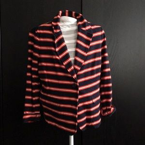 J. Crew striped blazer